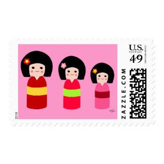 Dibujo animado de las hermanas de la muñeca de envio