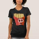 Dibujo animado de las patatas fritas camiseta