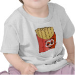 Dibujo animado de las patatas fritas camisetas