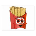 Dibujo animado de las patatas fritas postal