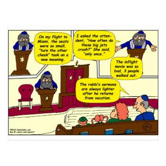 Dibujo animado de las vacaciones de 531 rabinos postal