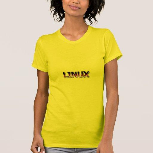 Dibujo animado de LINUX Camisetas