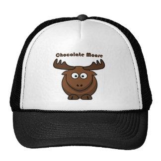 Dibujo animado de los alces del chocolate gorro