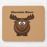 Dibujo animado de los alces del chocolate mousepad