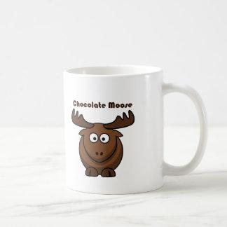 Dibujo animado de los alces del chocolate tazas de café