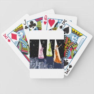 Dibujo animado de los artistas de la música del barajas de cartas