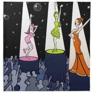 Dibujo animado de los artistas de la música del servilleta de papel