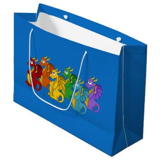 Dibujo animado de los dragones bolsa de regalo grande