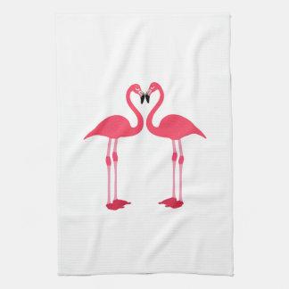 Dibujo animado de los flamencos toallas