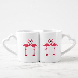 Dibujo animado de los flamencos tazas para parejas
