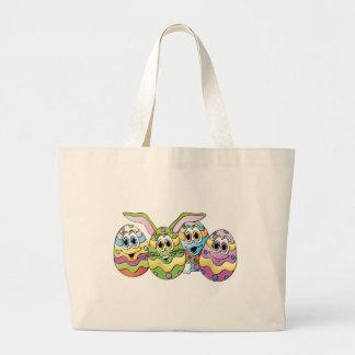 Dibujo animado de los huevos de Pascua Bolsa Tela Grande