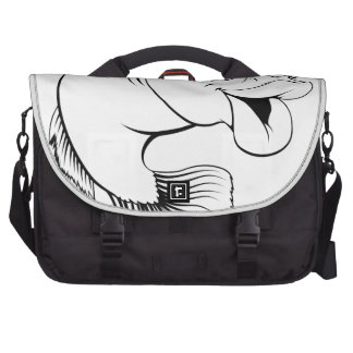 Dibujo animado de los pescados de bacalao bolsas de portatil