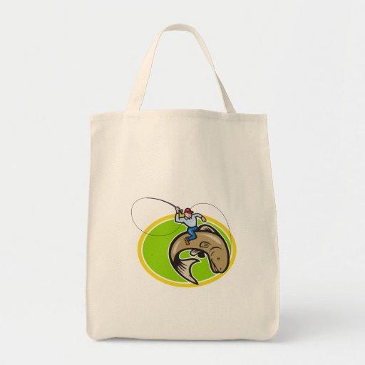Dibujo animado de los pescados de la trucha del mo bolsa