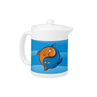 Dibujo animado de los pescados de Yin Yang