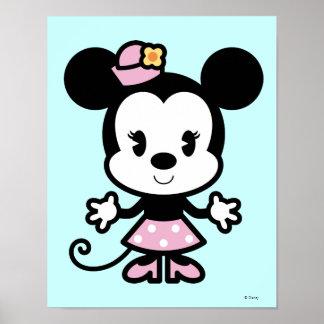 Dibujo animado de Minnie Mouse Póster