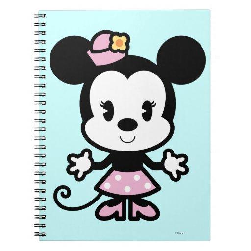 Dibujo animado de Minnie Mouse Spiral Notebook | Zazzle