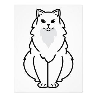 """Dibujo animado de pelo largo americano del gato folleto 8.5"""" x 11"""""""