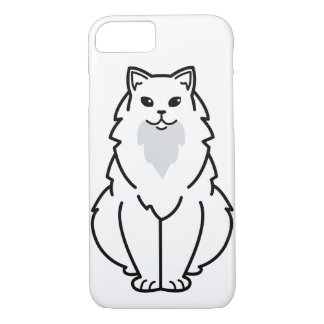 Dibujo animado de pelo largo americano del gato funda iPhone 7