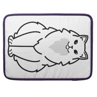 Dibujo animado de pelo largo americano del gato fundas macbook pro