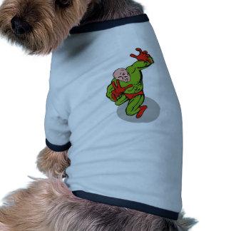 dibujo animado de perforación de funcionamiento de ropa de perros