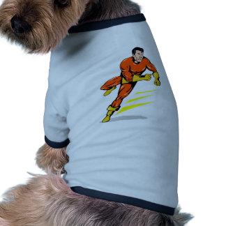 dibujo animado de perforación de funcionamiento de camisas de perritos