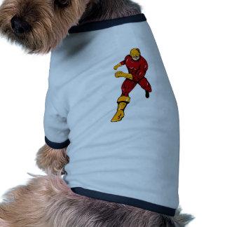 dibujo animado de perforación de funcionamiento de ropa de perro