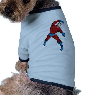 dibujo animado de perforación de funcionamiento de camiseta de perro