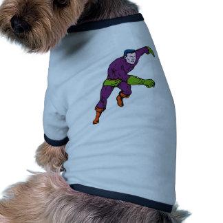 dibujo animado de perforación de funcionamiento de camisa de perrito