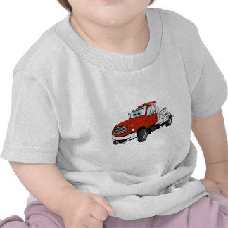 Dibujo animado de plata rojo de la grúa camiseta