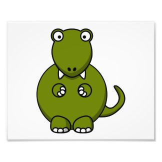 Dibujo animado de Rex del Tyrannosaurus Impresión Fotográfica