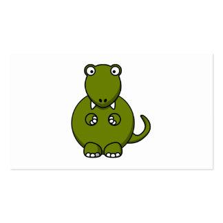 Dibujo animado de Rex del Tyrannosaurus Tarjetas De Visita