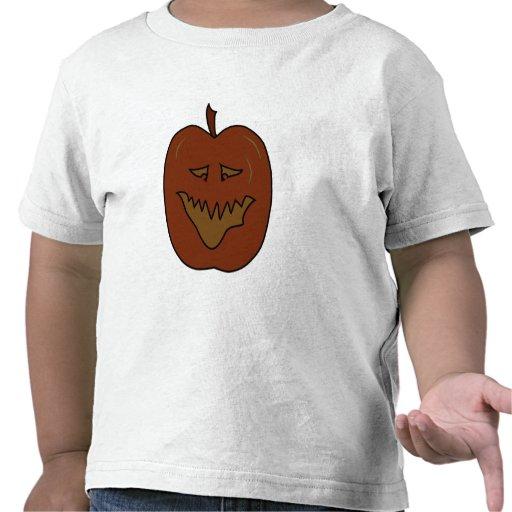 Dibujo animado de risa de la calabaza. Colores Camisetas
