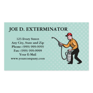 Dibujo animado de rociadura del trabajador del Ext Tarjetas Personales