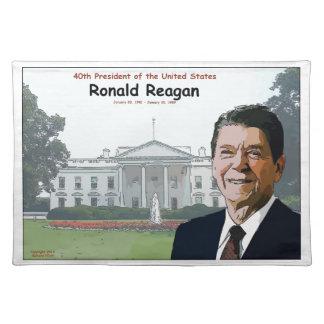 Dibujo animado de Ronald Reagan Manteles Individuales