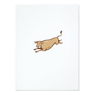 Dibujo animado de salto de la vaca de Bull Comunicados Personales