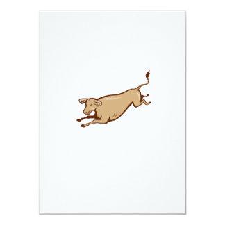 """Dibujo animado de salto de la vaca de Bull Invitación 4.5"""" X 6.25"""""""