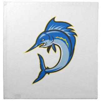 Dibujo animado de salto de los peces espadas del p servilleta imprimida