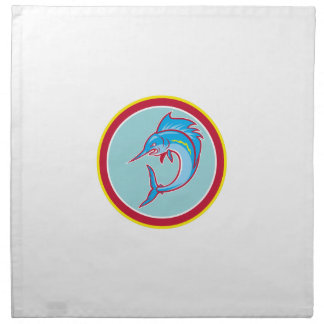 Dibujo animado de salto del círculo de los servilletas de papel