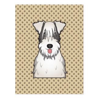 Dibujo animado de Sealyham Terrier Tarjeta Postal