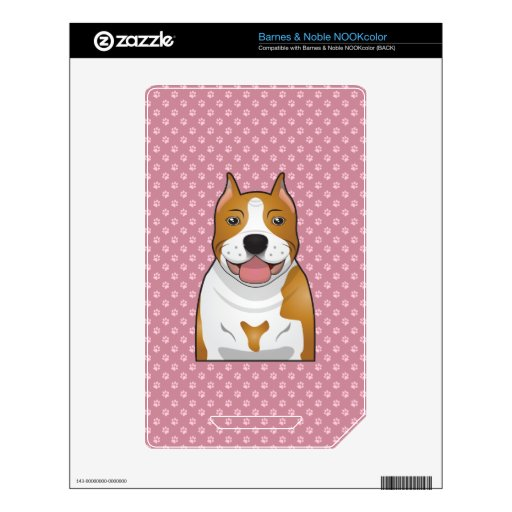 Dibujo animado de Staffordshire Terrier americano NOOK Color Skin