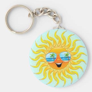 Dibujo animado de Sun del verano con llavero de la