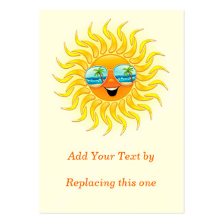 Dibujo animado de Sun del verano con paquetes rech Tarjetas De Visita Grandes