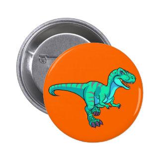 Dibujo animado de T-Rex Pin Redondo 5 Cm