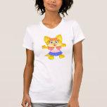 Dibujo animado de Teakup Yorkie en la camiseta de
