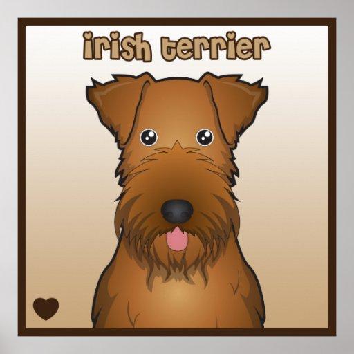 Dibujo animado de Terrier irlandés Posters