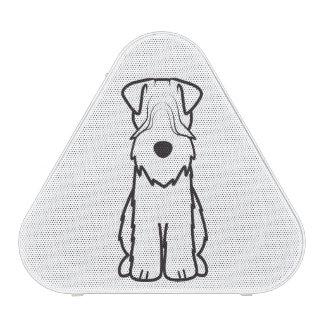 Dibujo animado de trigo del perro de Softcoated Altavoz