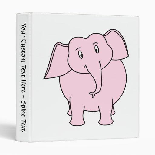 """Dibujo animado de un elefante rosado carpeta 1"""""""