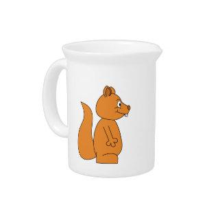 Dibujo animado de una ardilla roja jarra