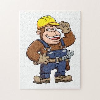 Dibujo animado de una manitas del gorila puzzle