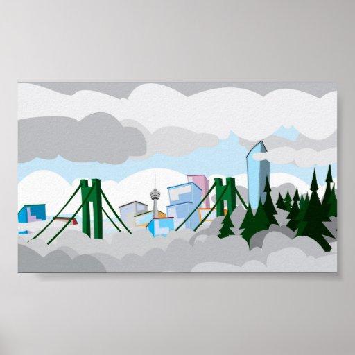 Dibujo animado de Vancouver Impresiones